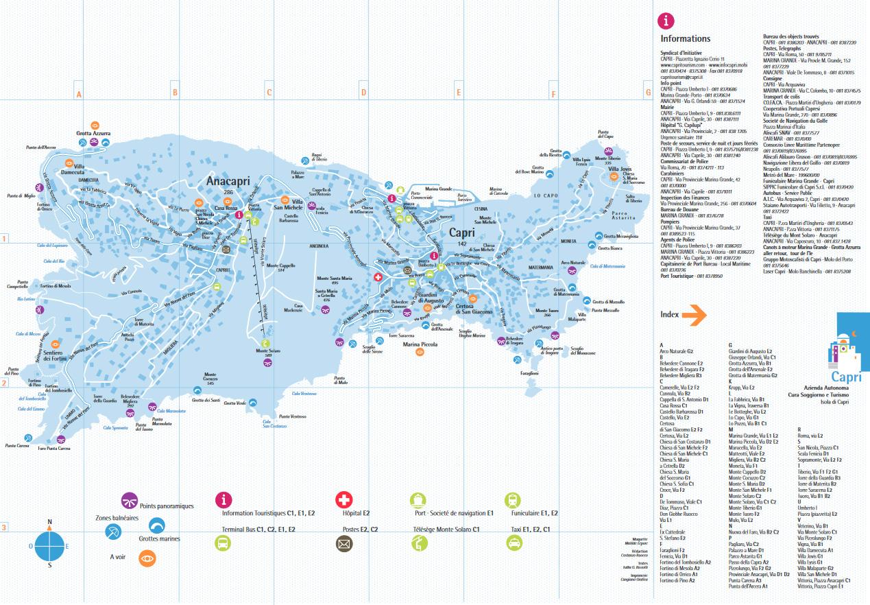 Maps of Capri - Capri Voyage